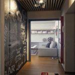 Серый цвет в интерьере прихожей и гостиной