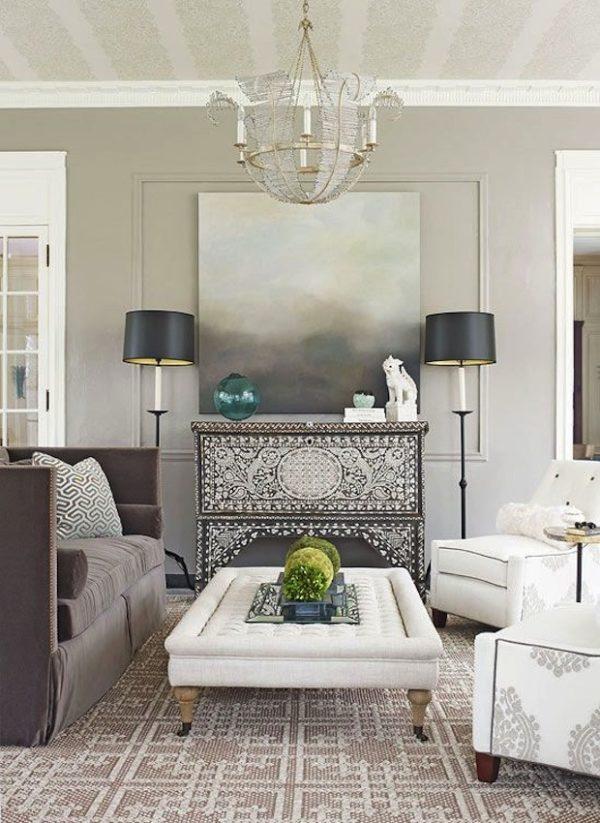 Серый и белый интерьер