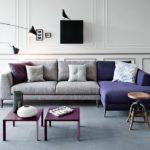 Современный серый интерьер с использованием различных дополнительных цветов