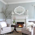 Светло-серый в интерьере гостиной