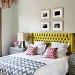 Для спальни подобран светильник в дымчато-оранжевых тонах