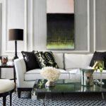 Интерьер гостиной в серо-белых тонах