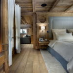 Спальня в бежево-голубых тонах