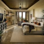 Спальня с многоуровневым потолком