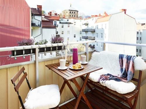 Балкон с зоной отдыха