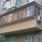 Двойной балкон в хрущёвке