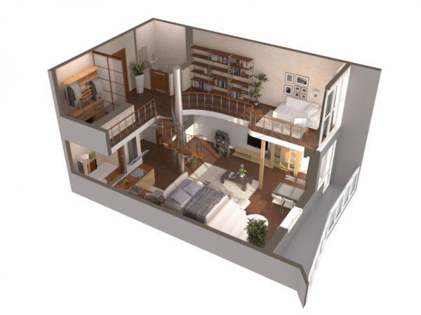 Двухуровневая квартира