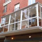 Фасад с панорамными окнами
