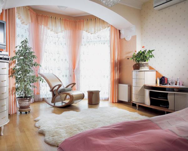 Лоджия, совмещённая со спальней