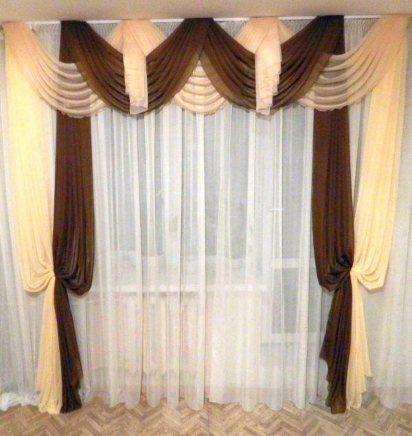 Объёмные шторы для гостиной