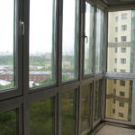 Панорамные окна на лоджии