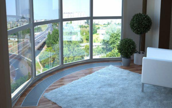 Полукруглая лоджия с панорамными окнами