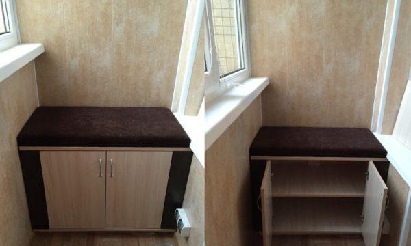 Шкафчик — стул для балкона