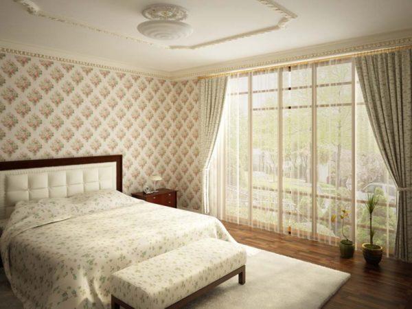 Пуфик в спальне