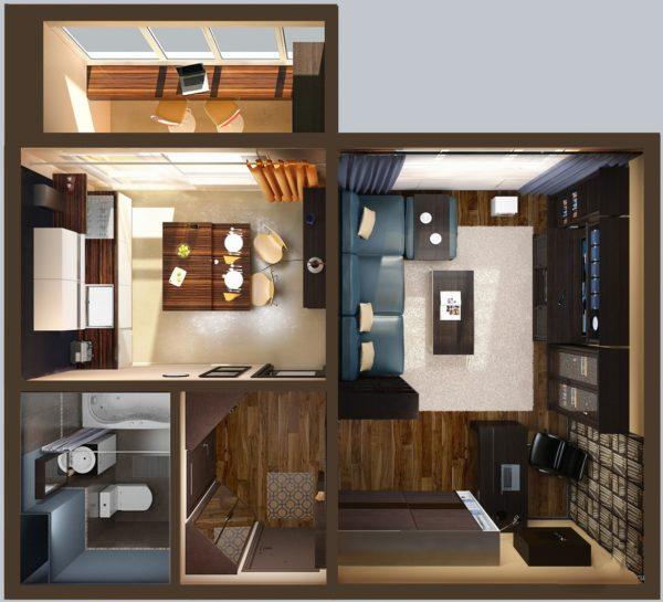 Планировка квартиры для одинокого мужчины