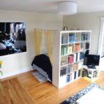 Однокомнатная квартира со стеллажом