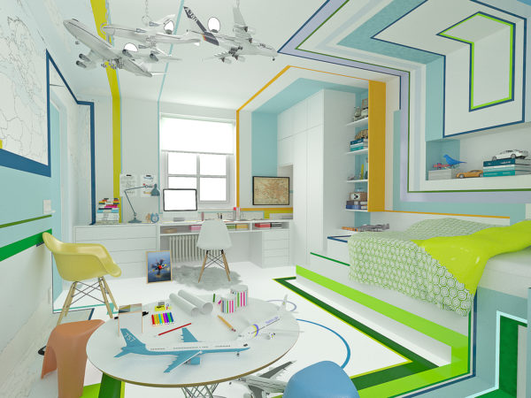 Большая детская комната для одного ребёнка