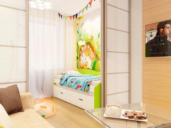 Дизайн квартиры семьи с ребёнком