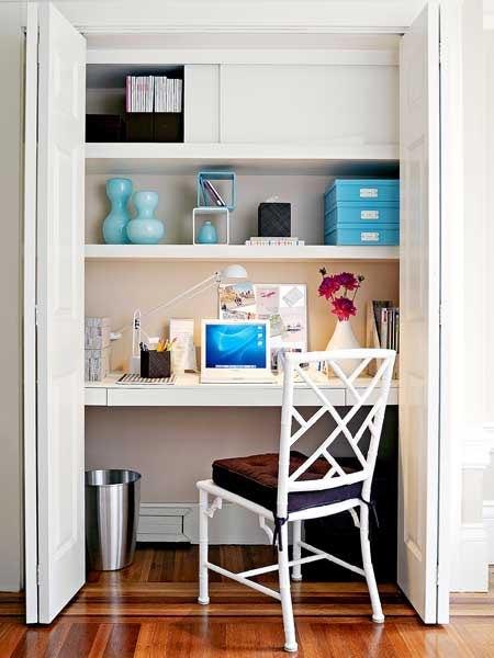 Домашний офис в кладовой