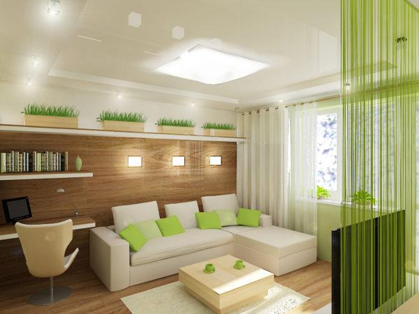 Эко-стиль в гостиной