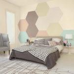 Игра с цветом в оформлении спальни