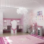 Люстра для детской комнаты в стиле модерн