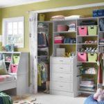 Детская гардеробная со шторами