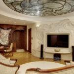 Модерн в просторной гостиной