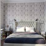 Текстиль в спальне серого цвета