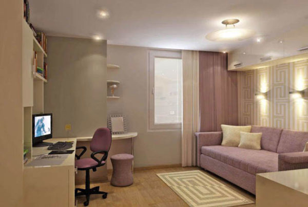 Освещение однокомнтаной квартиры