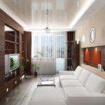 Освещение глянцевого потолка