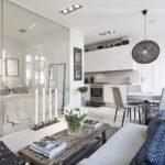 Скандинавский стиль в интерьере квартиры-студии