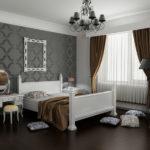 Спальня в серо-коричневых оттенках для семейной пары