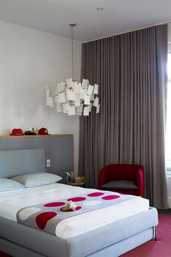Спальня в серых тонах для девушки