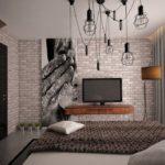 Дизайн спальни с использованием различных фактур