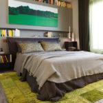 Серый цвет в спальне в эко-стиле