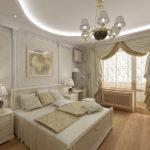 Спальня в классическом стиле в серых тонах