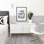 Серый цвет в инетрьере спальни в скандинавском стиле