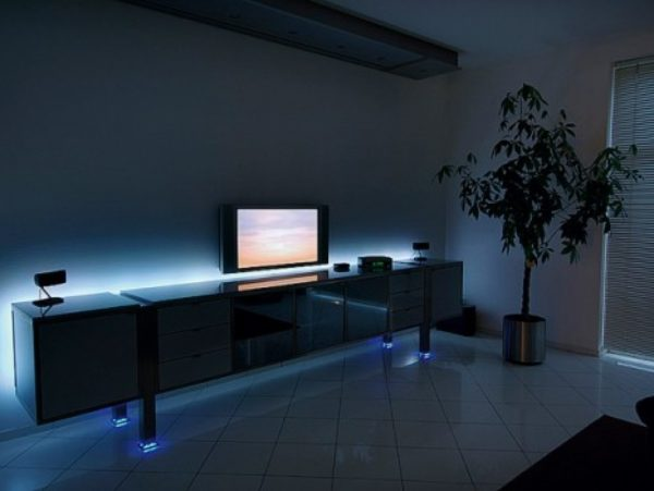 Светодиодная лента в гостиной